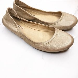 Lucky Brand Emmie Gold Flats Shoes Size 6